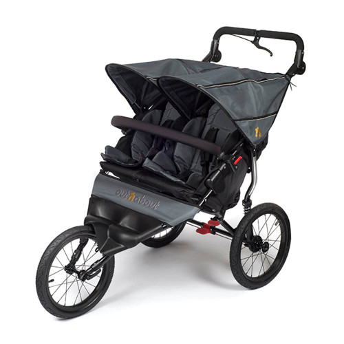 Out n About Nipper Double Sport Stroller - Steel Grey