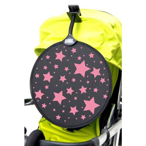 Hippychick My Buggy Buddy Sun Shade - Pink Stars