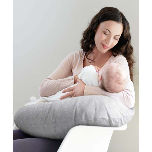 Mamas & Papas Nursing Pillow - Grey Marl lifestyle