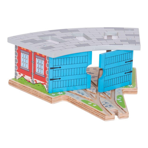 Bigjigs Triple Engine Shed