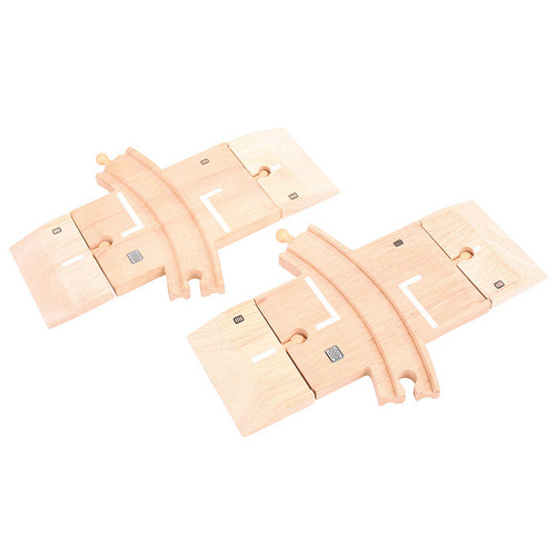 Bigjigs Curved Level Crossing (Pack of 2)