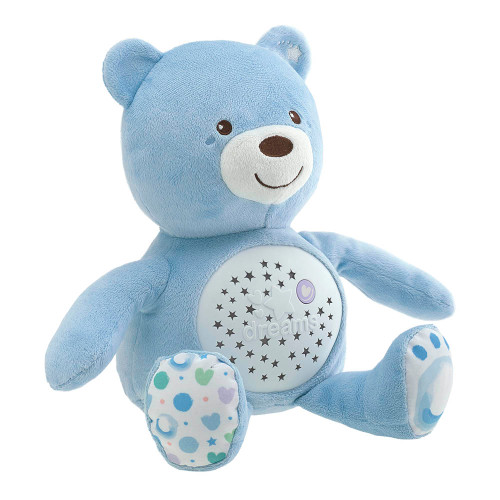 Chicco First Dreams Bear Night Projector - Light Blue (side view)