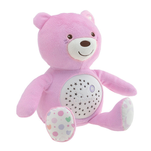 Chicco First Dreams Bear Night Projector - Pink (side view)