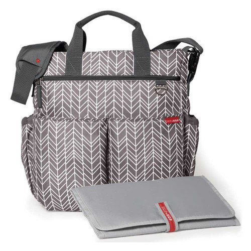 Skip Hop Duo Signature Changing Bag - Grey Feather (with mat)
