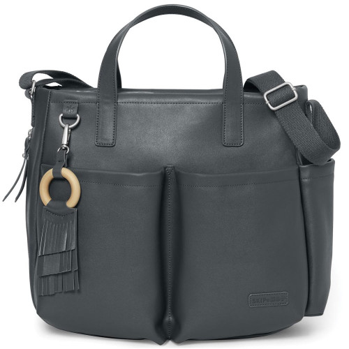 Skip Hop Greenwich Simply Chic Tote - Smoke Front
