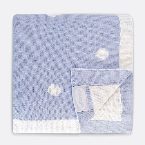 Shnuggle Knitted Cotton Blanket - Cloud