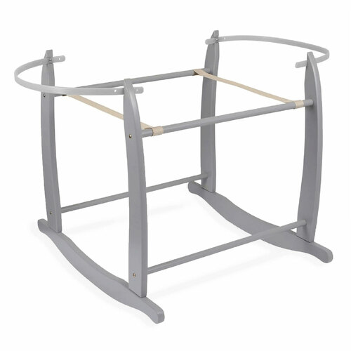 Clair de Lune Deluxe Rocking Moses Basket Stand - Grey