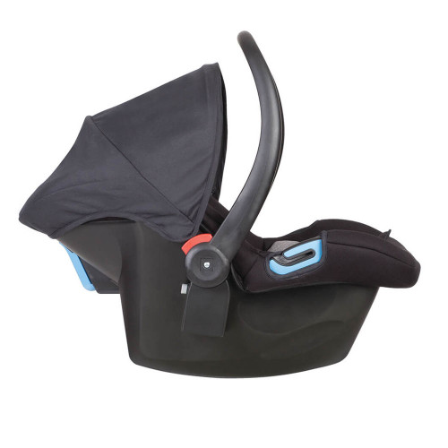 phil and teds alpha v2 car seat - black/grey marl side view