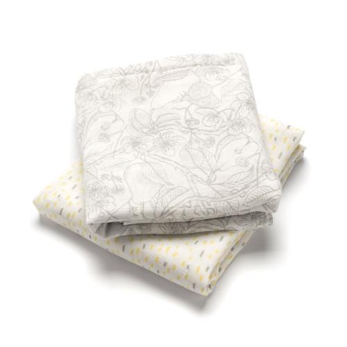 Storksak Swaddle Blankets 2 Pack - Garden & Raindot