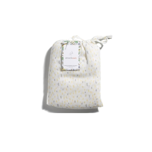 Storksak Muslin Swaddle Blanket - Raindot Print