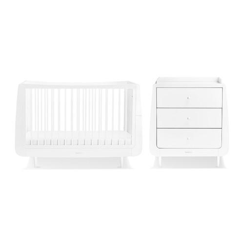 SnuzKot Skandi 2 Piece Nursery Furniture Set - White