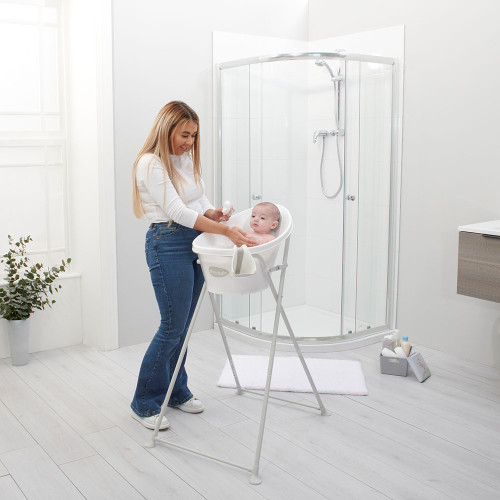 Shnuggle Folding Bath Stand - White
