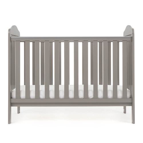 Obaby Ludlow Cot - Taupe Grey (low)