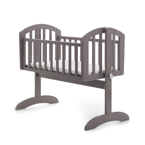 Obaby Sophie Swinging Crib + Mattress - Taupe Grey