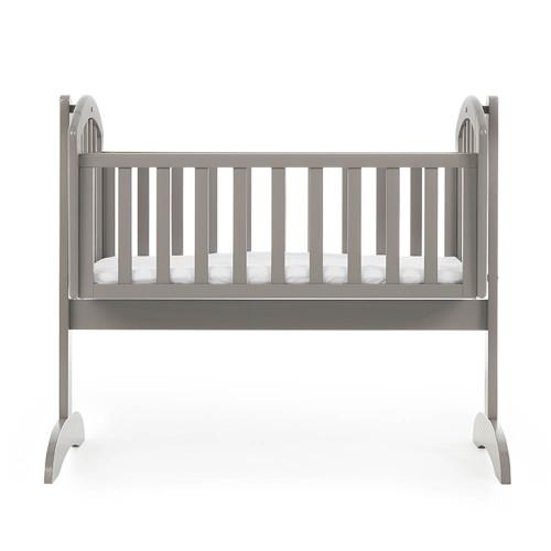 Obaby Sophie Swinging Crib + Mattress - Taupe Grey (side)