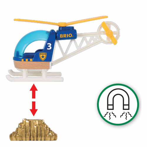Brio Police Helicopter - Magentic
