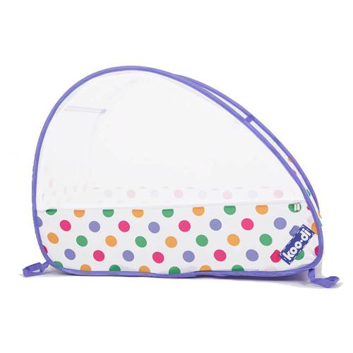 Koo-di Pop-Up Travel Bubble Cot - Pastel Polka (front)