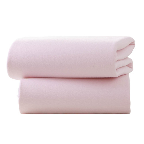 Clair De Lune 2 Pack Fitted Pram Sheets - Pink