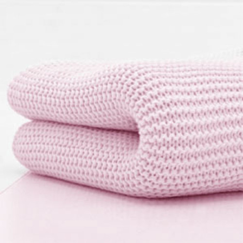 Cuddles Collection Cotbed Cellular Blanket - Baby Pink