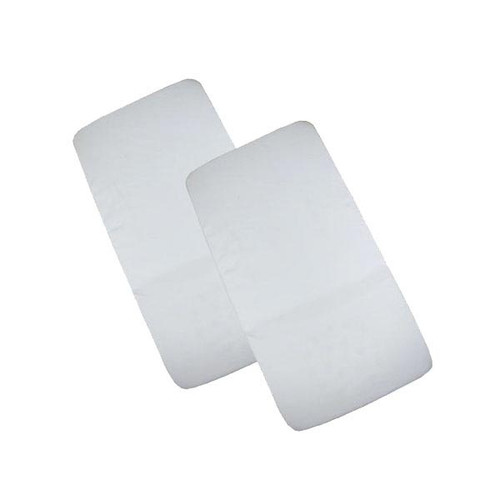 Cuddles Collection Two Pack Crib Fitted Sheets - White