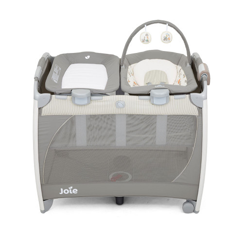 Joie Excursion Change & Bounce Travel Cot - In The Rain - Front