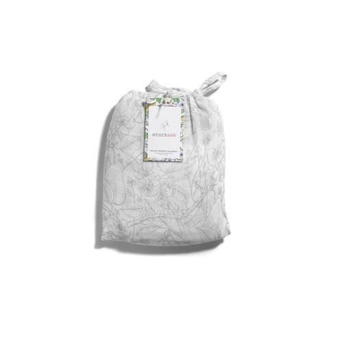 Storksak Muslin Swaddle Blanket - Garden Print