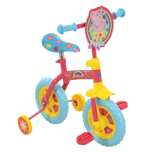 "MV Sports Peppa Pig 2-in-1 10"" Training Bike"