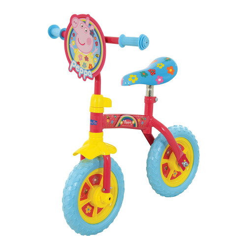 "MV Sports Peppa Pig 2-in-1 10"" Training Bike (without stabilisers)"