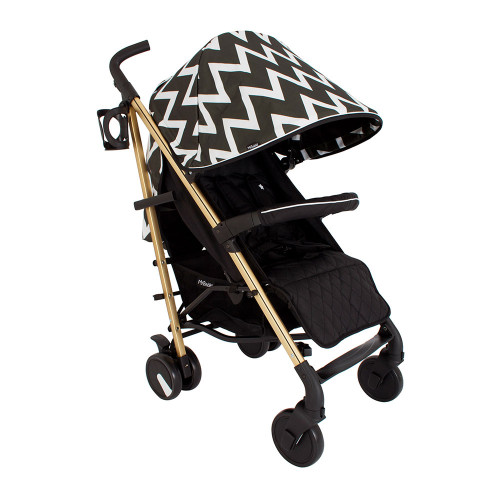 My Babiie MB51 Stroller - Gold Edition Chevron - Without Footmuff