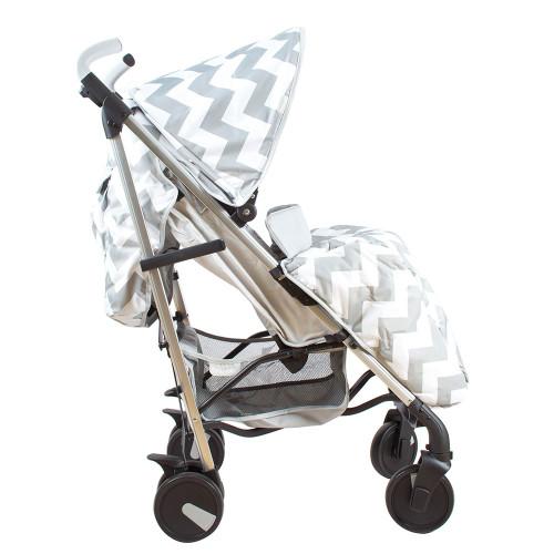 My Babiie MB51 Stroller - Billie Faiers/Grey Chevron - Side
