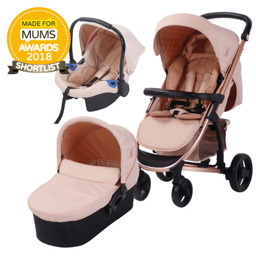 My Babiie MB200 Travel System - Billie Faiers/Rose Gold & Blush