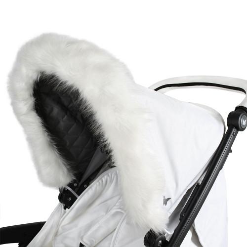 My Babiie Hood Fur - White