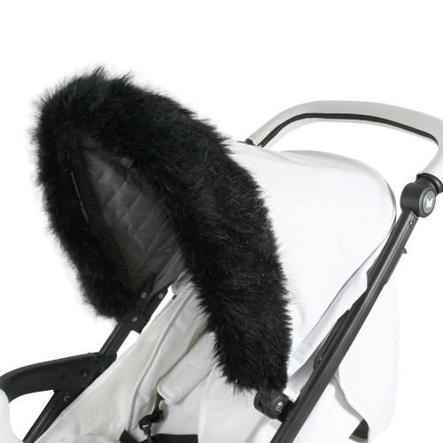 My Babiie Hood Fur - Black