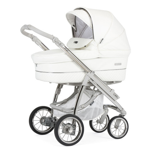 Bebecar Pack Ip-Op Classic XL + Car Seat + Raincover - White Delight (523) - carrycot mode