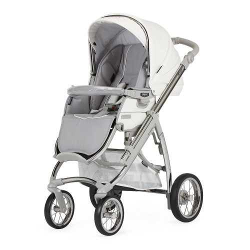 Bebecar Pack Ip-Op Classic XL + Car Seat + Raincover - White Delight (523) - pushchair mode