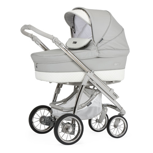 Bebecar Pack Ip-Op Classic XL + Car Seat + Raincover - Silver Grey (521) - carrycot mode