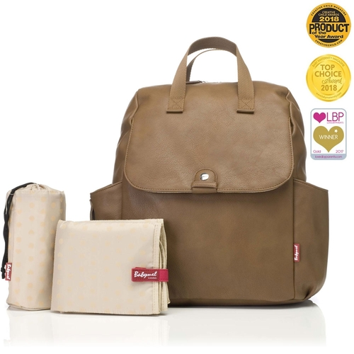 Babymel Robyn Convertible Backpack - Vegan Leather Tan