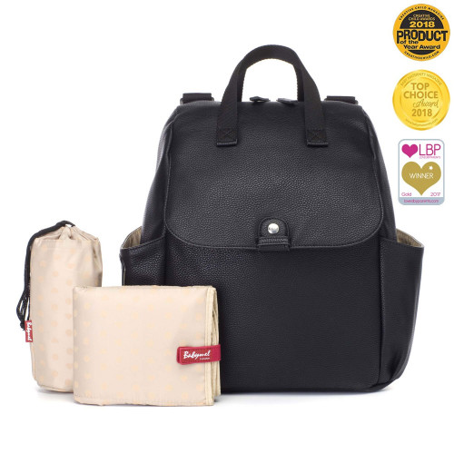 Babymel Robyn Convertible Backpack - Vegan Leather Black