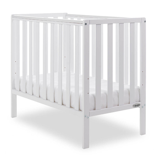 Obaby Bantam Space Saver Cot + Foam Mattress - White
