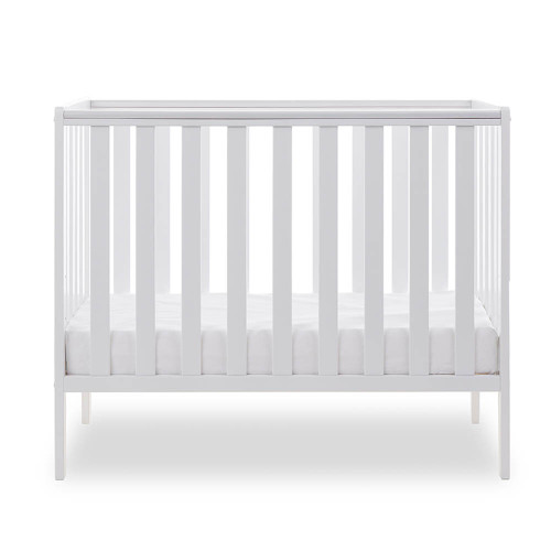 Obaby Bantam Space Saver Cot + Foam Mattress - White (low)