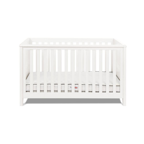 Silver Cross Nostalgia Cot Bed - White (cot front)