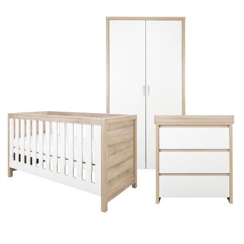 Tutti Bambini Modena 3 Piece Room Set - Oak / White
