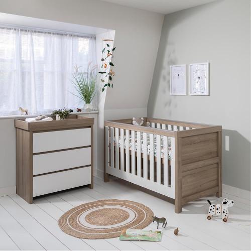 Tutti Bambini Modena 2 Piece Room Set - Oak / White