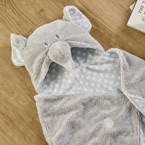 Clair De Lune Elephant Hooded Blanket