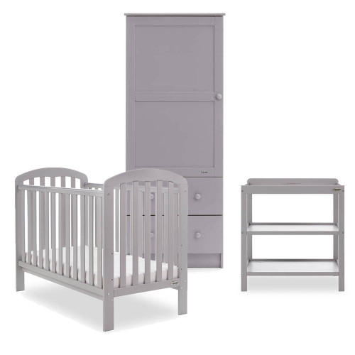 Obaby Lily 3 Piece Room Set - Warm Grey
