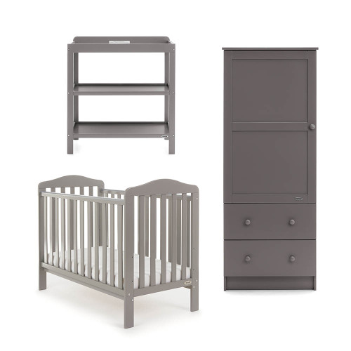 Obaby Ludlow 3 Piece Room Set - Taupe Grey