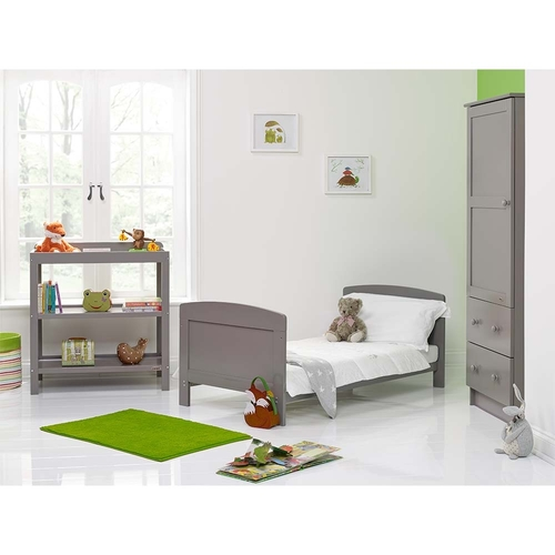 Obaby Grace 3 Piece Room Set - Taupe Grey (lifestyle bed)