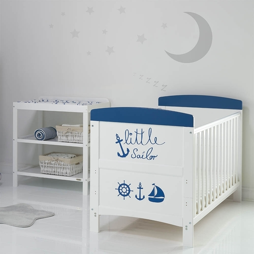 Obaby Grace Inspire 2 Piece Room Set - Little Sailor (lifestyle)