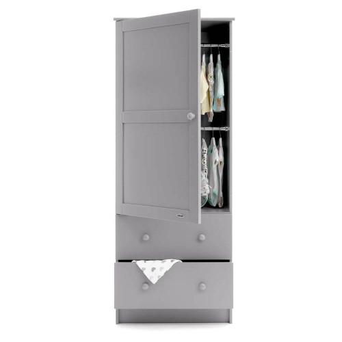 Obaby Single Wardrobe - Warm Grey (open)
