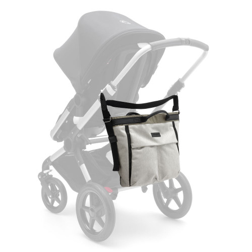 Bugaboo Changing Bag - Stone Melange - on stroller